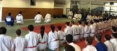 JAPONESES DE LA SELECCIÓN DE LA UNIVERSIDAD DE WASEDA REALIZARON ENTRENAMIENTO MASIVO DE JUDO EN CAMPUS SAN JOAQUÍN